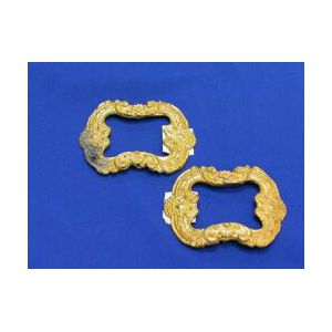 Pair of Spanish Colonial-style Gold Shoe Buckles.