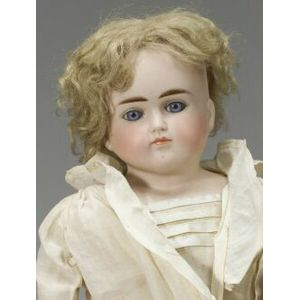 Closed Mouth Turned Bisque Shoulder Head Doll