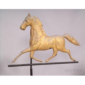 Molded Sheet Copper Trotting Horse Weather Vane