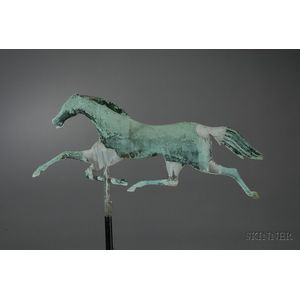 Small Jewell Molded Copper Running Horse Weather Vane