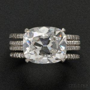 Fine Platinum and Diamond Solitaire, Taffin
