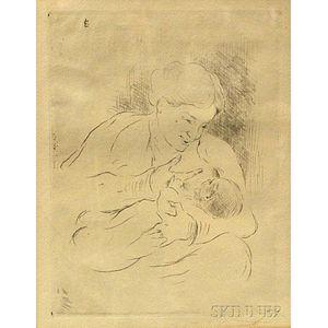Lovis Corinth (German, 1858-1925)      Mother and Child.