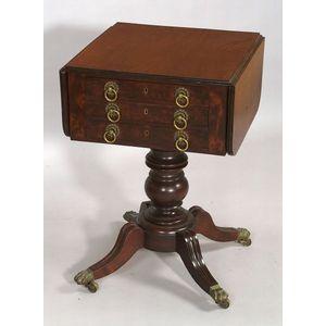 Classical Mahogany and Mahogany Veneer Work Table