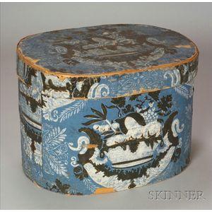 Large Hannah Davis Wallpaper-covered Wooden Bandbox