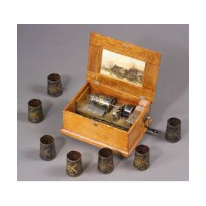 """Capital Style A """"Cuff"""" Musical Box by F. G. Otto & Sons"""