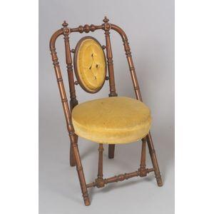 Hunzinger Upholstered Walnut Parlor Side Chair