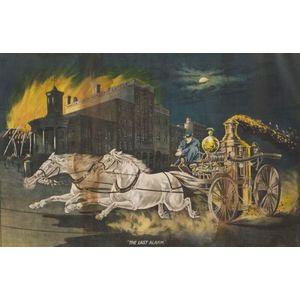"""The Last Alarm"" Firefighting Chromolithograph"