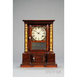 "Rosewood ""London Mantel"" Eight-Day Chronometer Shelf Clock by Atkins Clock Company"