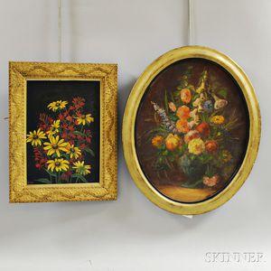 Two Framed Floral Scenes