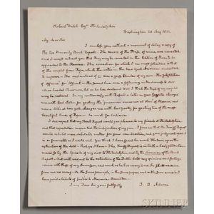 Adams, John Quincy (1767-1848) Autograph Letter Signed, Washington, D.C., 28 May 1832.