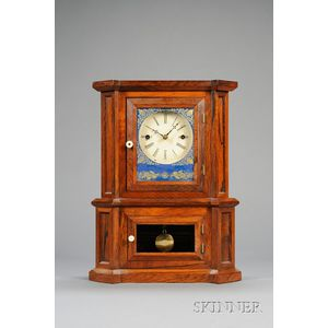 """Rosewood """"Parlor No. 1""""  30-Day Fusee Shelf Clock by The Atkins Clock Company"""