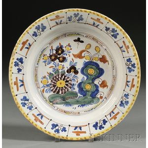 Polychrome Decorated Delft Charger