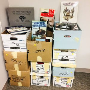 Ten Boxes of Mostly 20th Century Warfare Books