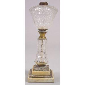 Colorless Cut Glass Fluid Lamp