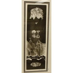 Framed Lithograph, Double You