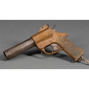 Brass and Steel Flare or Signal Gun