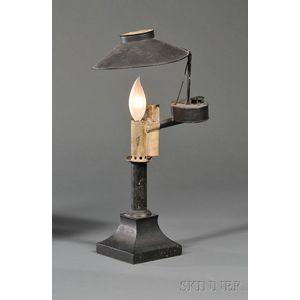 Black-painted Tin Oil Lamp
