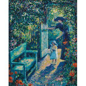 Theodore Earl Butler (American, 1861-1936)      A La Porte du Jardin