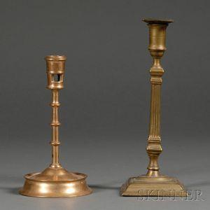 Two Brass Candlesticks