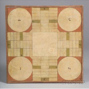 Small Painted Parcheesi Board