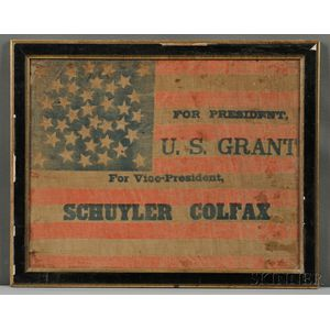 Printed Linen Ulysses S. Grant Presidential Campaign Flag