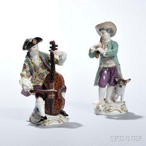Pair of Meissen Porcelain Musicians