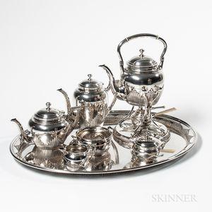 Seven-piece German .800 Silver Tea and Coffee Service