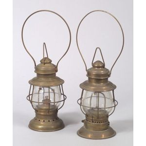 Pair of Brass Railroad Lanterns