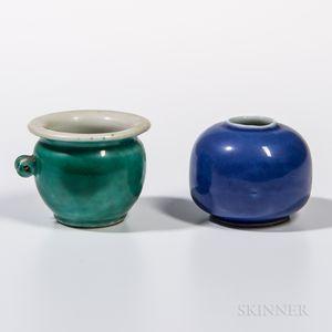 Two Miniature Ceramic Jars