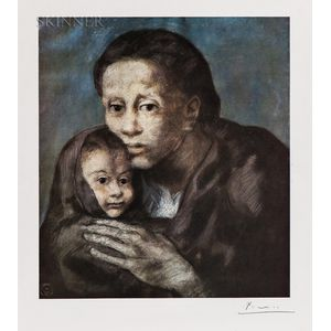 After Pablo Picasso (Spanish, 1881-1973)      Mother and Child with Shawl, 1903