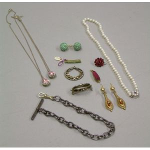 Group of Paste and Assorted Other Jewelry