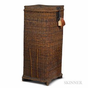 Tall Japanese Woven Storage Basket