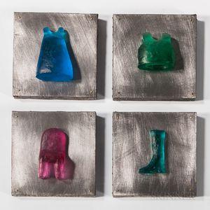 Maki Hajikamo Dressing Room   Four-piece Art Glass Sculpture