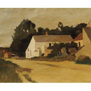 Ada Clifford Murphy (American, fl. 1886-1933)      Old Farm House - Montigny France