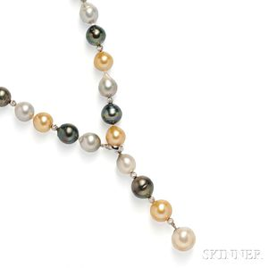 Tahitian, Golden South Sea, and South Sea Pearl Necklace