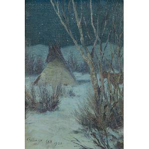 William Gollings (American, 1878-1932)      Night Encampment