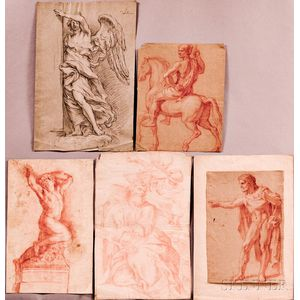 Five Old Master Figure Drawings