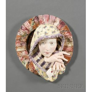 Earthenware Wall Plaque of a Girl