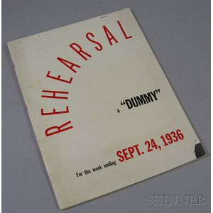 "Time Inc. September 24, 1936, No. 2 ""Rehearsal"" Copy for Life   Magazine."