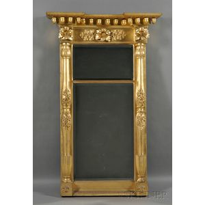 Large Classical Giltwood Two-part Mirror
