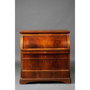 Late Biedermeier Fruitwood Cylinder Desk