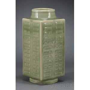 Celadon Cong Vase