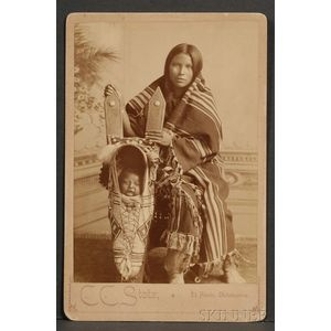 Cabinet Card of a Southern Plains Woman and Child
