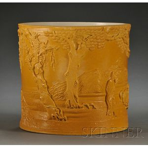 Yellow Brush Pot