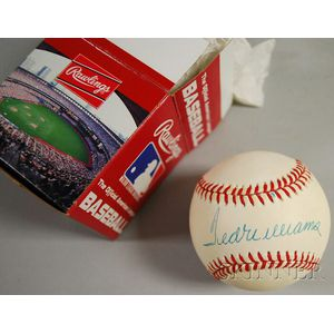 Ted Williams Autographed Baseball