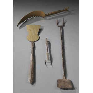 Four Assorted Metal Wrought Tools