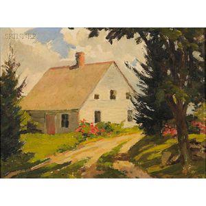 James Goodwin McManus (American, 1882-1958)      Lot of Two Landscapes: The Hatt Farm House at Salem Connecticut