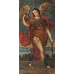 Peruvian School, 18th/19th Century      Archangel Raphael
