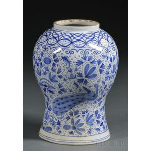 Blue and White Delft Vase