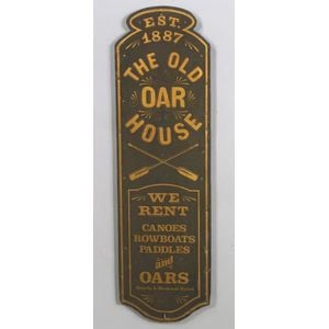 """THE OLD OAR HOUSE"" Painted Wooden Trade Sign"